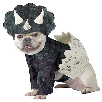 Puppy Dinosaur Costumes (Dino Pup Pet Dog Halloween Costume Triceratops Dinosaur Hatched Egg )