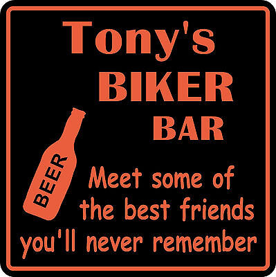 Personalized Name Sign Motorcycle Biker Bike Best Friend Bar Beer Gift   7