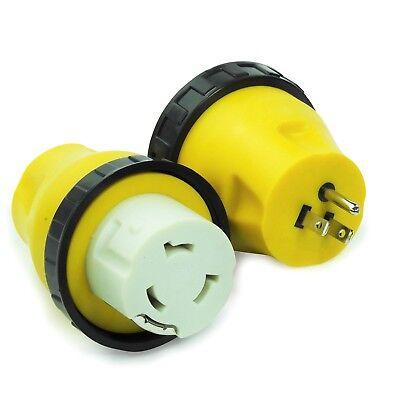 RV Power Cord Adapter 15 amp Male to 50 amp Twist Lock Female Camper