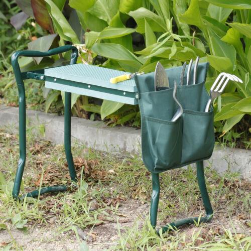 4PCS Folding Garden Kneeler Bench Kneeling Soft Eva Pad Seat With Stool Pouch Garden Clothing & Protective Gear