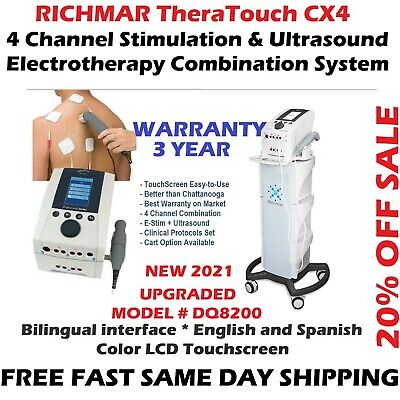 Richmar Theratouch Cx4 4-channel Ultrasound Combo Cart Upgrade From Chattanooga