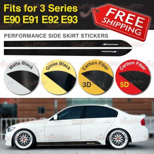 M Performance Side Skirt Vinyl Decal Stickers for BMW E90 E91 E92 E93 3 Series