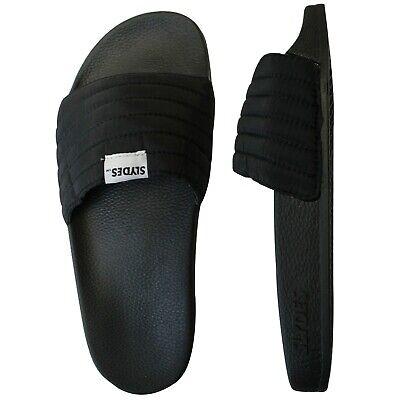 Slydes West Mens Slip On Sliders Open Toe Flip Flops Slide Black S0010S001 Z2A