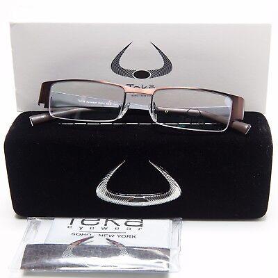 NEW Teka Eyewear Soho New York 202 Col. 3 BROWN EYEGLASSES FRAME 49-18-138 B25mm