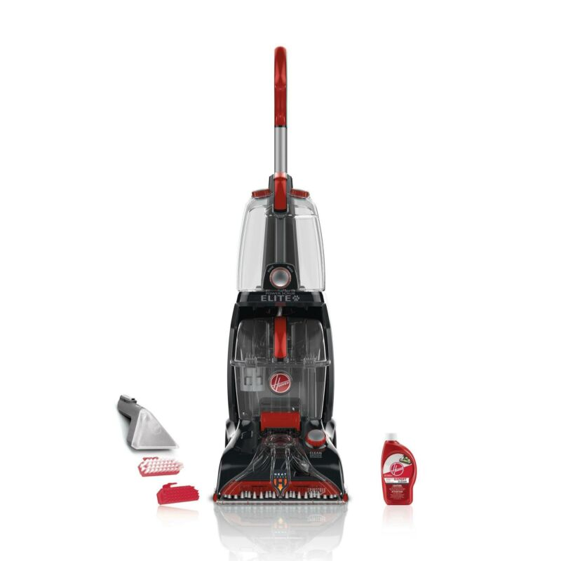 Hoover Power Scrub Elite Upright Deep Cleaner Gray/red FH50251
