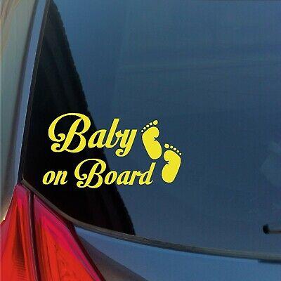 Baby an Bord mit Fußabdrücke Vinyl Aufkleber Kind Warnung Antrieb Safety Familie
