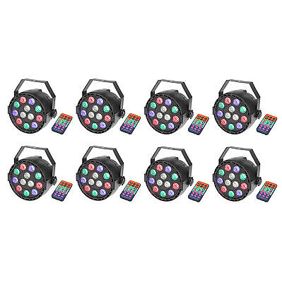 8 Pack Par Uplights 12 Led Stage Stand DJ Lighting RGBW DMX512 Washing Can 8 CH - Par Cans Stand