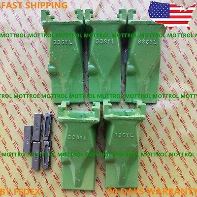 5 Pk V33 V33syl Vertilok Bucket Digging Teeth W V33pn Flex Pins Fits Esco Style