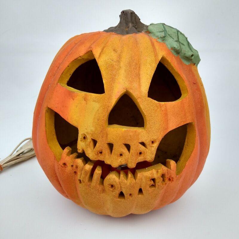 """Vtg 1996 Matrix Industries Light Up Foam Jack-o-lantern Pumpkin Halloween 10"""""""