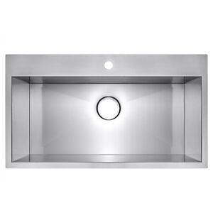 Single basin kitchen sink ebay 32 x 18 x 9 topmount drop in single bowl basin stainless steel kitchen sink workwithnaturefo