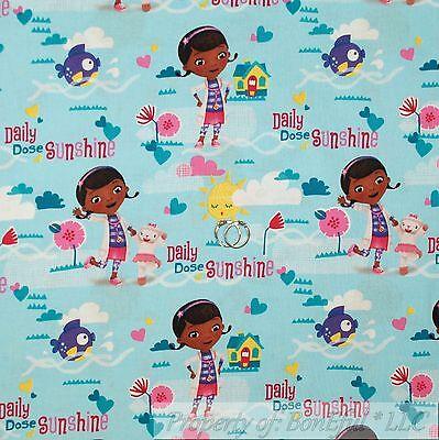 BonEful Fabric FQ Cotton Quilt Dr Doc McStuffins Heart Lamb Cancer Boy ER - Girls Doctors Outfit