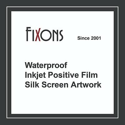 Waterproof Inkjet Screen Printing Positive Film 13x19 100 Sheets