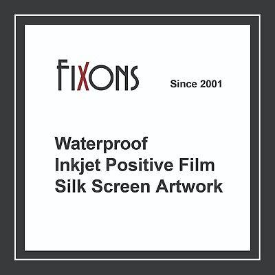 "Waterproof Inkjet Screen Printing Positive Film 13""x19"" 100 Sheets"