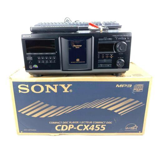 SERVICED Sony CDP-CX455 400 CD Mega Storage Player w/ Remote Keyboard NEW Belts