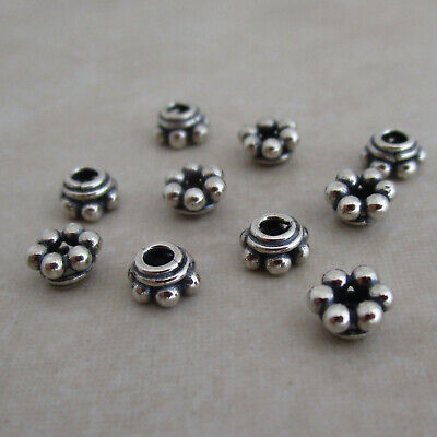 sterling silver beaded bead caps oxidized beaded Bali 5mm Bali Sterling Silver Bead Caps