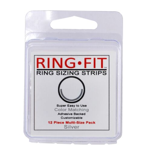 Ring-Fit Ring Sizing Strips 12 Pack - for WIDE Rings (wider than 3mm)