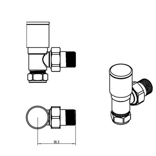 Horizontal Flat Panel Column Designer Radiator Anthracite
