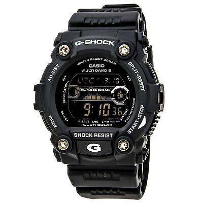 - Casio GW7900B-1 Men's G-Shock G-Rescue Solar Atomic Tide Graph Moon Data Watch