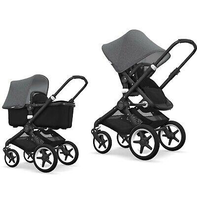 Bugaboo Fox Stroller & Bassinet Gray - great condition! Lightweight, sturdy!