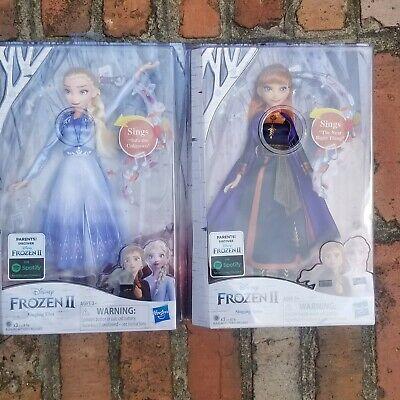 Disney Frozen 2 Elsa and Anna Singing Dolls Bundle NIB!!