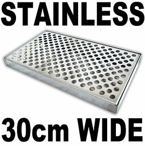 Surface Mount Counter Top Drip Tray - No Drain Stainless Steel Beer Kegerator