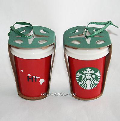 ONE 2016 Starbucks HAWAII Mermaid Christmas Tree Tumbler Holiday Ornament 2OZ