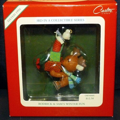 "1994 Carlton Christmas Ornament ~ "" Rodrick & Sam"