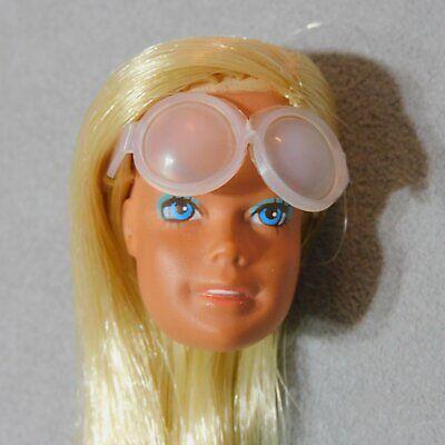 Barbie PARTS Head w/ Sunglasses MALIBU BARBIE Blonde RANA'S VARIETY USA SELLER