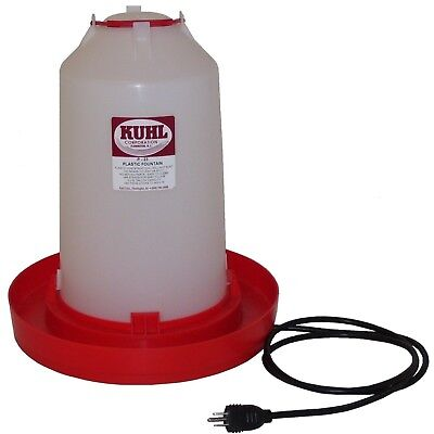1 - Three Gallon Heated Waterer Heated Chicken Waterer Heated Waterer