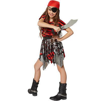 Mädchenkostüm kleine Seeräuberin Piratin Freibeuterin Kinder Karneval Fasching