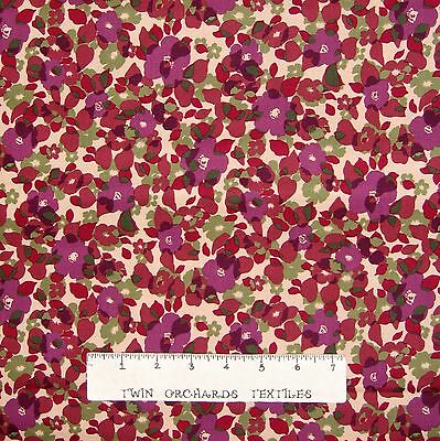 Contemporary Floral Fabric - Floral Fabric - Contemporary Country Puprle Floral - P&B YARD