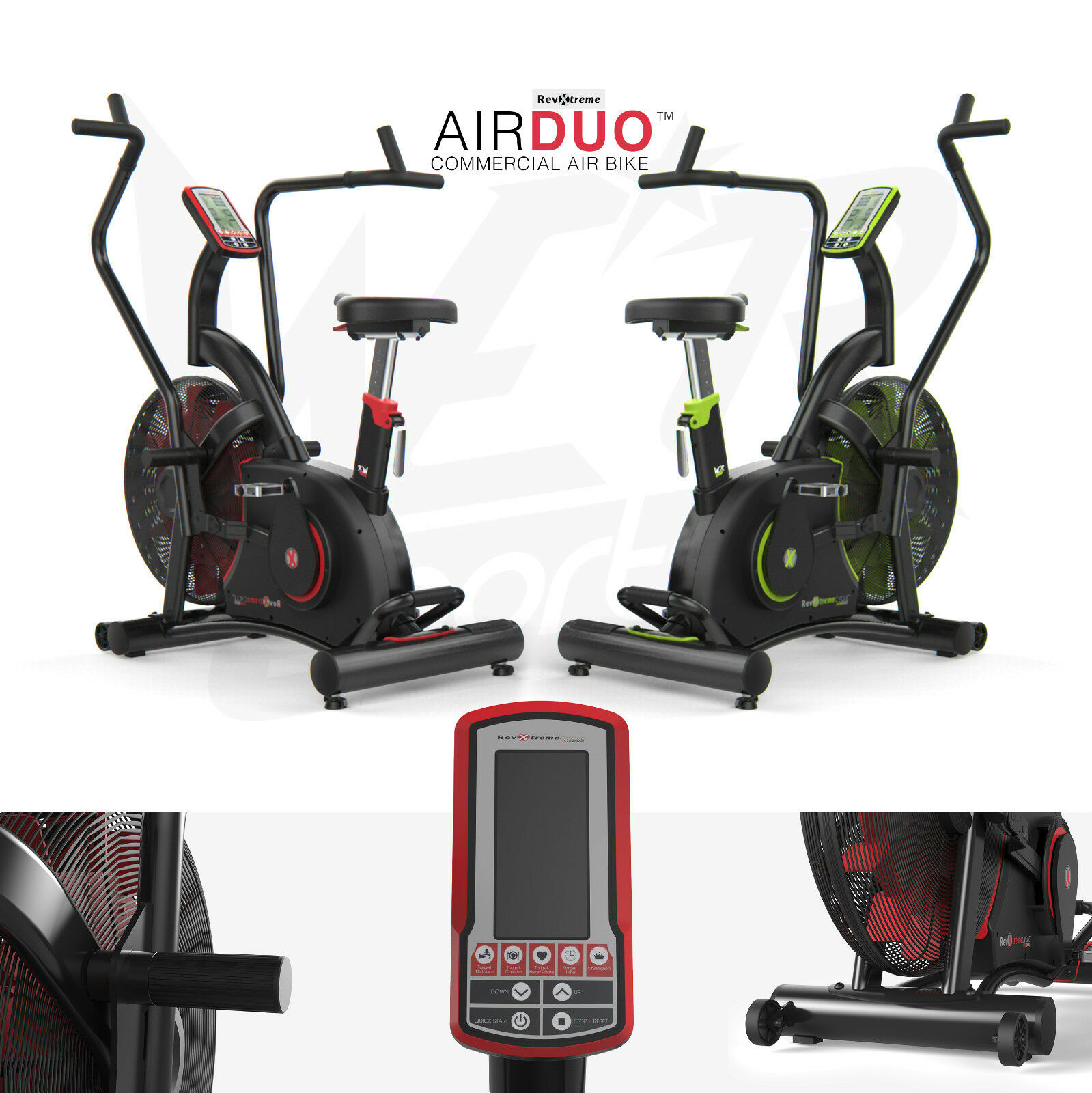 AirDuo Air Assault Exercise Bike Cardio Machine Fitness Cycle HeavyDuty MMA Bike