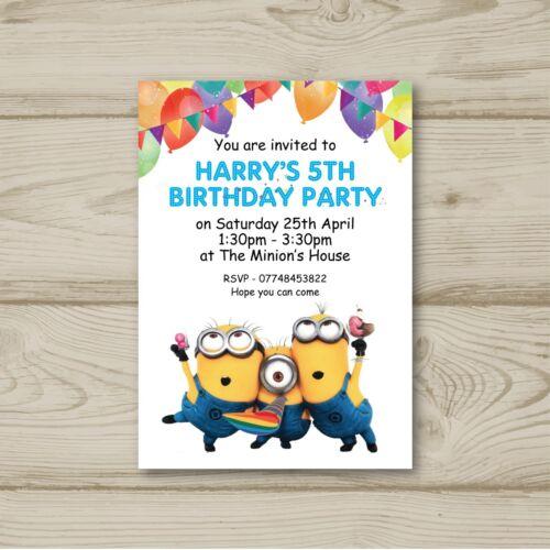 Minions+Despicable+Me+Disney+Children+Birthday+Party+Invitations