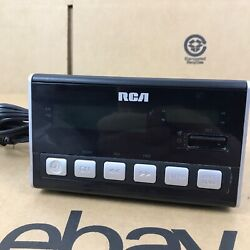 RCA Digital Alarm Clock RC10-A Dual AM FM Radio Stereo Large LED Display 1.G1