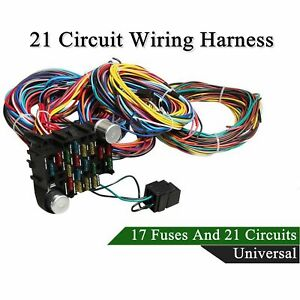universal wiring harness ebay21 circuit wiring harness for chevy mopar ford hotrods long wires universal