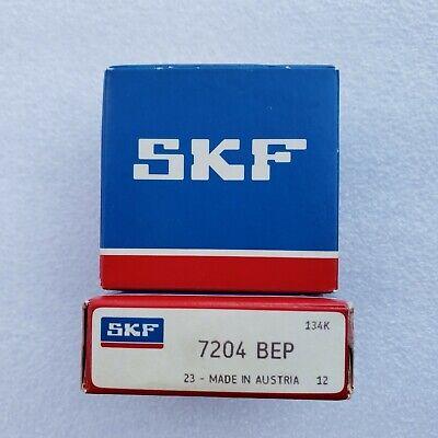 Skf 7204 Bep Angular Contact Bearing 20x47x14mm Nos Brand New