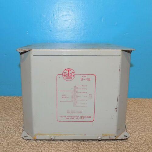 UTC S-48 Plate Transformer 3000/2500/2000VCT@500mA Free Shipping