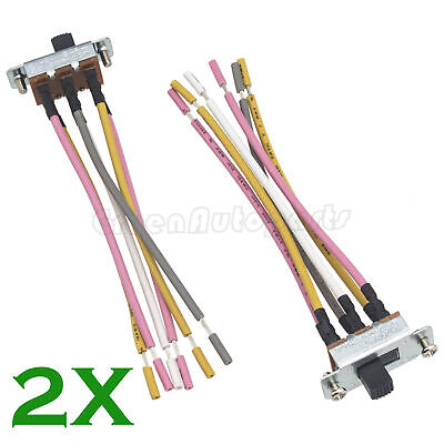 2 X Canal Ceiling Fan Reverse Direction 6 Pin Switch SL13B With 2 M3 -