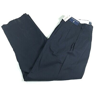 Polo Ralph Lauren Men's 38x29 Blue Pleated Classic Fit Chino Andrew Pants NWT