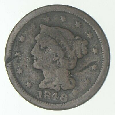 Better 1846 Braided Hair US Large Cent Penny Coin Collection Lot Set Break *281