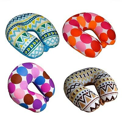 Kid Size Micro Beads Travel Pillow U Shaped Neck Pillow for Kids Travel - Childrens Travel Neck Pillow
