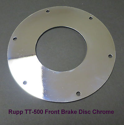 Rupp  T-500 Vintage Minibike Front Brake Disc *CHROME* Plated