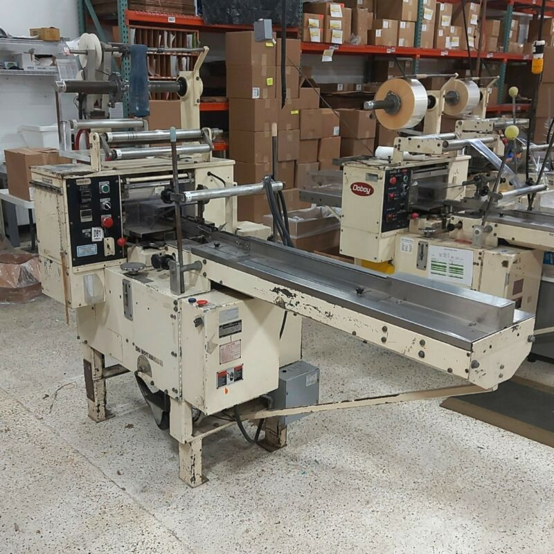 """DOBOY SCOTTY Horizontal Flow Wrapper 2-5 1/2"""" Wide Seal 20-60PPM 1-Phase 220VAC"""