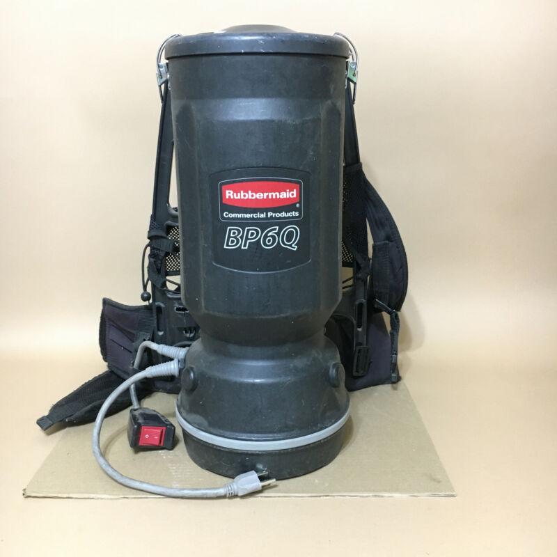 Black Rubbermaid BP6Q 1868433 Commercial Backpack Vacuum Cleaner