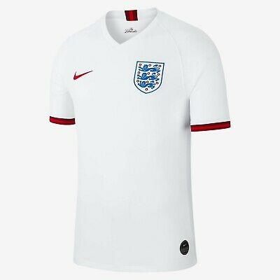 England Nike Men's 2019-20 Home Football Shirt - White - New