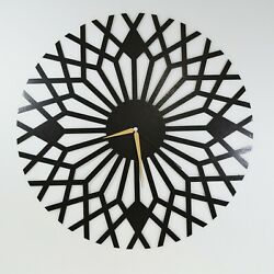 Abstract Modern Metal Wall Clock,Open Face Wall Clock,Large Metal Clock For Wall