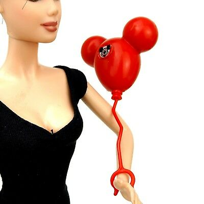 Barbie Doll Red Mickey Mouse Faux Balloon 25th Anniversary Walt Disney World   ()