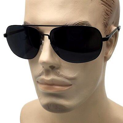 XL Extra Wide Frame Big Head Men's Sunglasses Super Dark Lens Face Casual (Big Frame Sunglasses Mens)