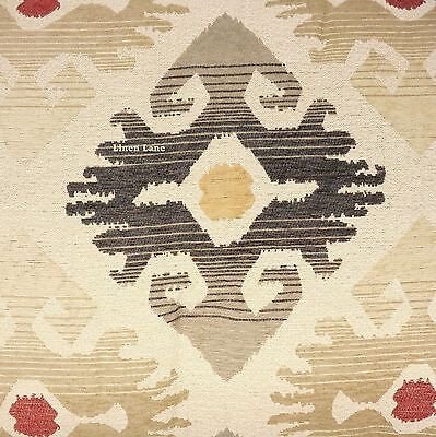Veratex Sierra Queen Comforter Set 5Pc Nwt Ikat Medallion Gray Red Southwestern