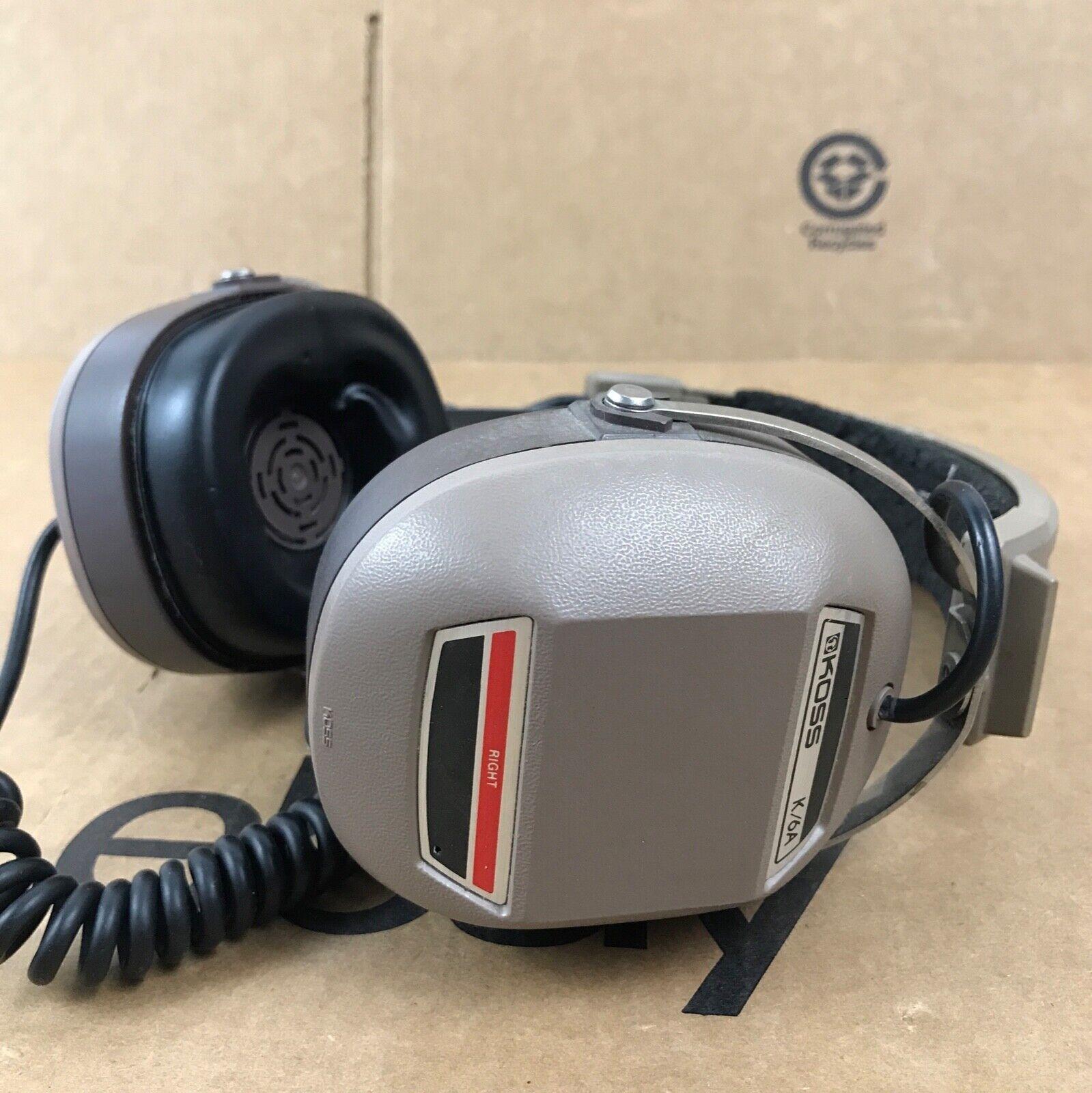 """Vintage KOSS K/6A Audio Stereo HEADPHONES Adjustable 1/4"""" Ja"""